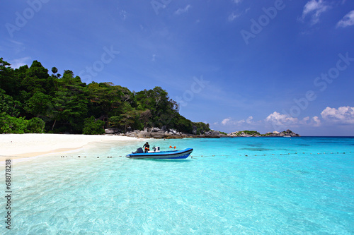 Poster Turquoise Tropical beach, Similan Islands, Andaman Sea, Thailand