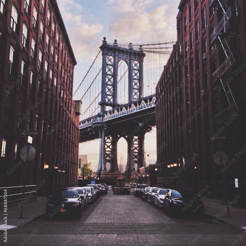 Fototapety, obrazy: Manhattan bridge