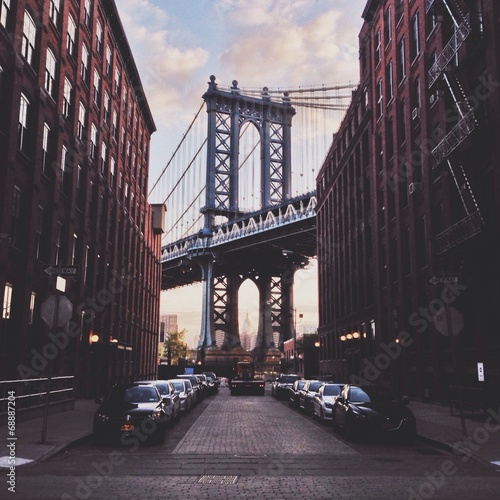 Tuinposter Brooklyn Bridge Manhattan bridge