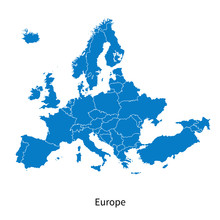 Detailed Vector Map Of Europe ...