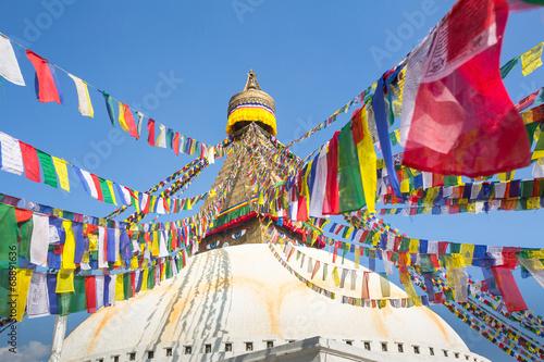 Deurstickers Nepal Bodhnath Stupa in Kathmandu, Nepal.