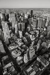 Black & White aerial view of New York City