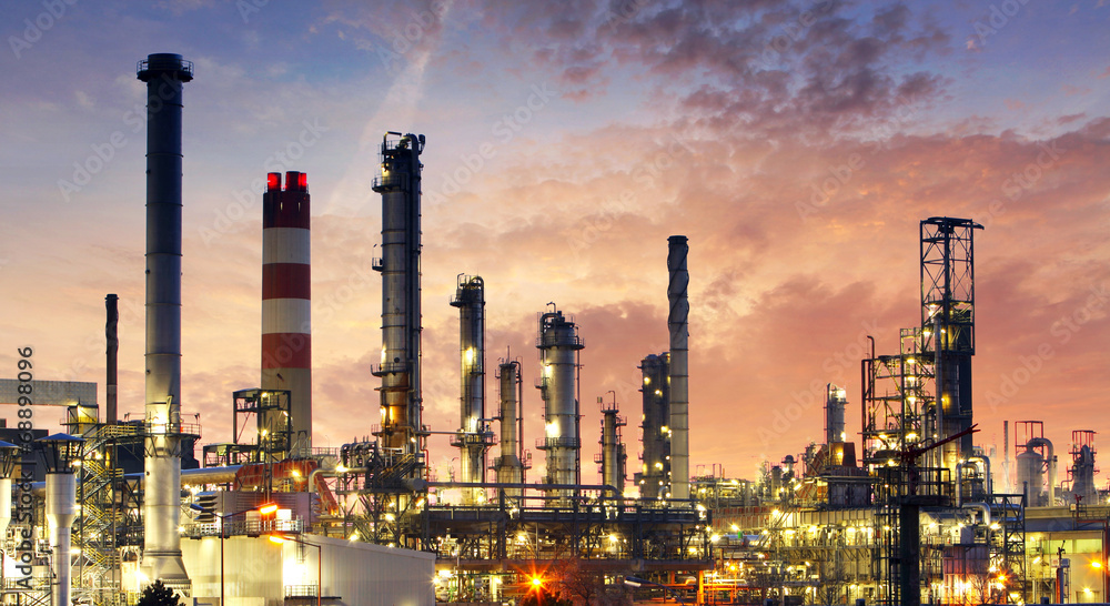 Fototapety, obrazy: Factory - oil and gas industry
