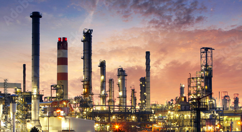 Tuinposter Industrial geb. Factory - oil and gas industry