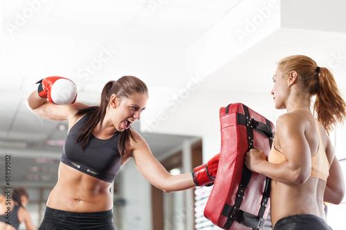 Láminas  Las mujeres de boxeo