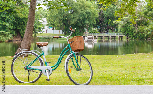 Photo Stands Cycling Bicycle in the park