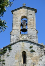 Bell-tower Of Ancient Church In Southern France