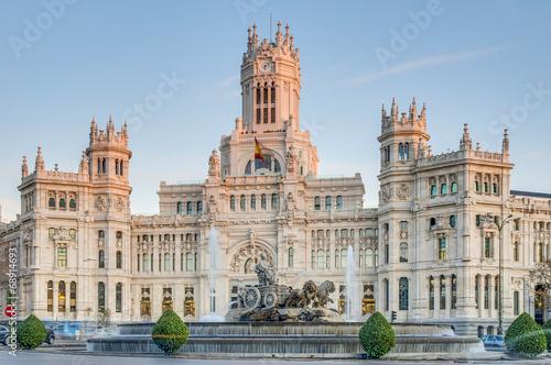 Spoed Fotobehang Madrid Cibeles Fountain at Madrid, Spain