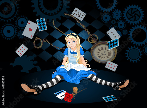 Alice in surprise Canvas-taulu