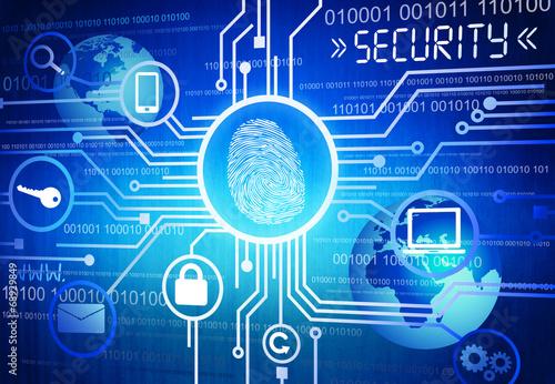 Foto  Digital-Bild des on-line-Sicherheits-Konzeptes