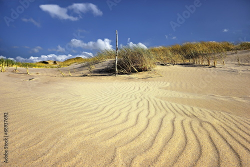 Fotobehang - Plaża i wydmy nad morzem