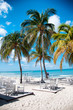 Outdoor beach restaurant in Aruba, Caribbean
