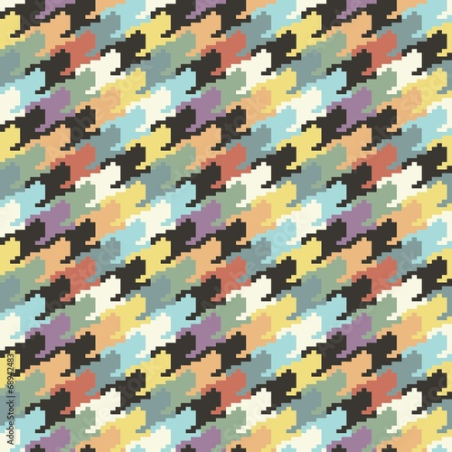 Photo  dogtooth colorful pattern