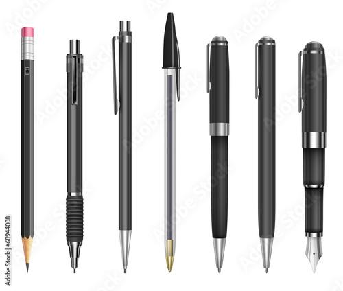 Pens and pencils Fototapete