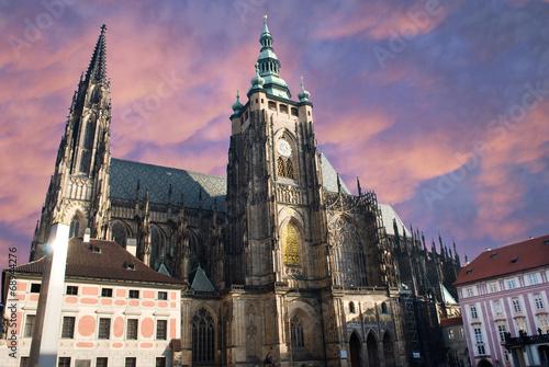 Tuinposter Fantasie Landschap Saint Vitus cathedral, Prague