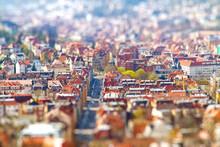 Tilt Shift Effekt - Stadt Stuttgart