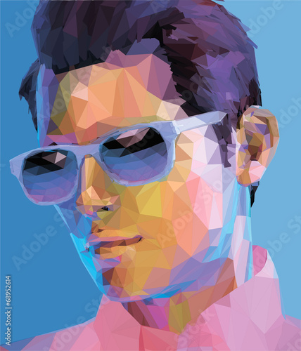 low poly man abstract fashion portrait