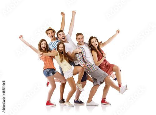 Fotografía  Group of happy students