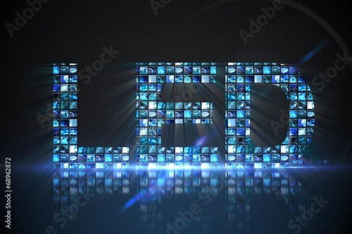 Fényképezés  Led made of digital screens in blue