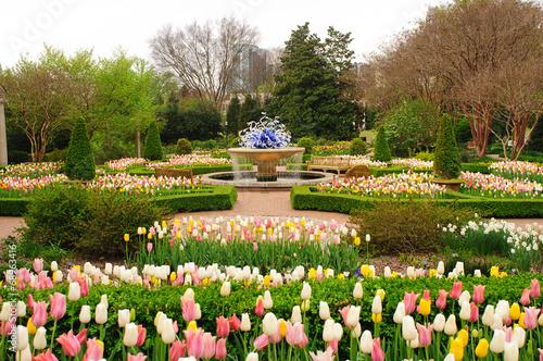 Plakat Krajobrazowy projekt w Atlanta ogródzie botanicznym horyzontalnym