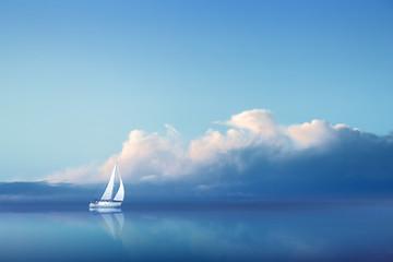 Voilier en Pleine Mer