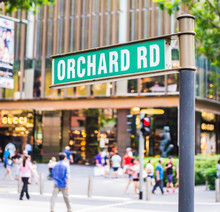 """Street Sign That Read """" Orchard Road"""""""
