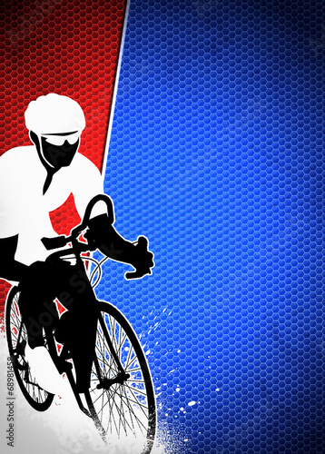 Foto op Plexiglas Fietsen Cycling background