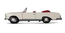 Vintage White Car Cabriolet