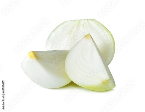 Valokuvatapetti onion on a white background