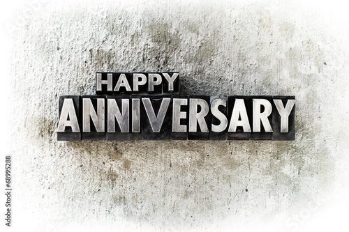 Fotografie, Obraz  Happy Anniversary