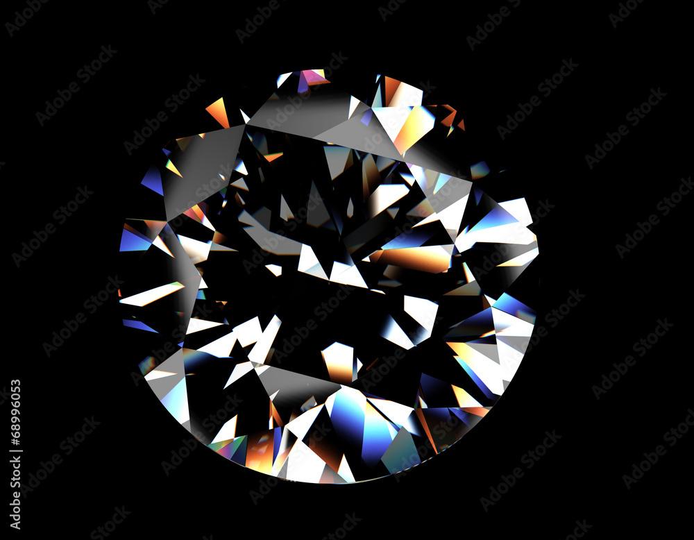 da75d62e3c8979 Round shape brilliant Diamond. Jewelry background #68996053 ...