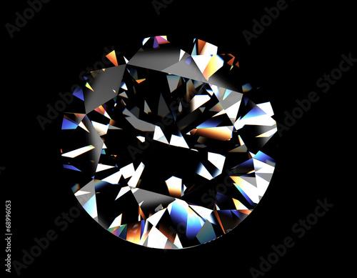 Tuinposter Round shape brilliant Diamond. Jewelry background