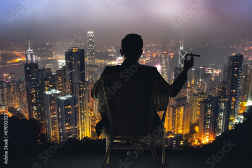 Fotografia businessman sit on chair