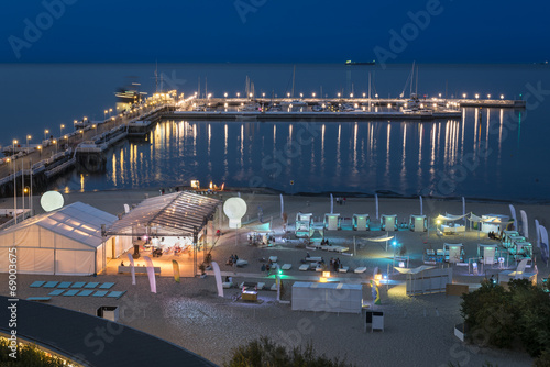 Night view of the pier at Sopot, Poland. © Cinematographer