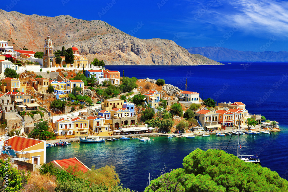 Fototapeta wonderful Greece. Symi island , Dodecanese