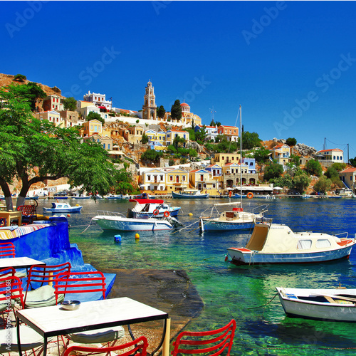 Photographie Symi - colorful small traditional island of Dodecanese, Greece
