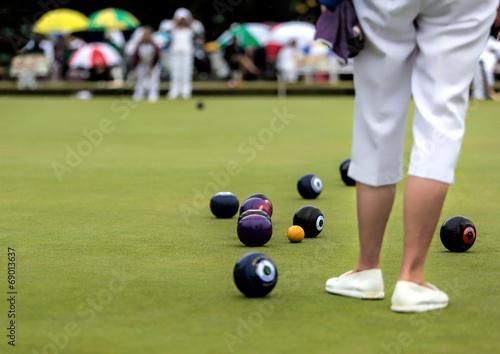 Fototapeta Ladies Lawn Bowls Match obraz