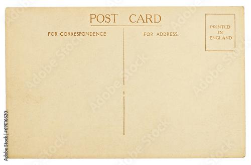 Fotografia  Blank Postcard Isolated on White