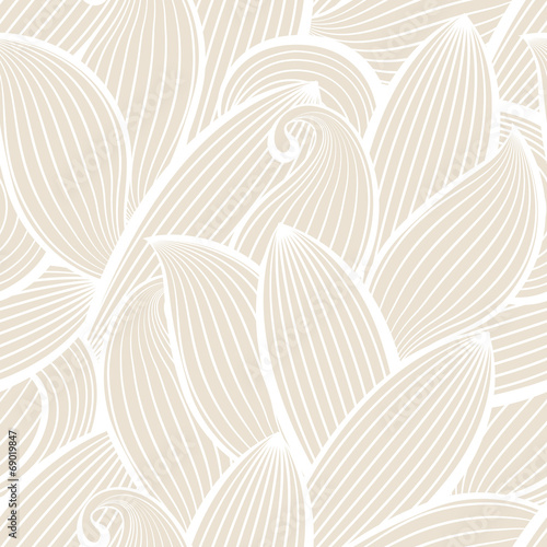 Deurstickers Kunstmatig Vector seamless hand-drawn pattern with leaf.