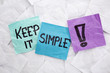 canvas print picture - keep it simple