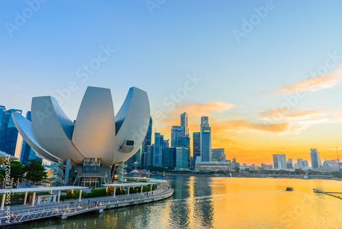 Fotografía  SINGAPORE - JUNE 24: ArtScience Museum on JUNE 24, 2014 in Singa