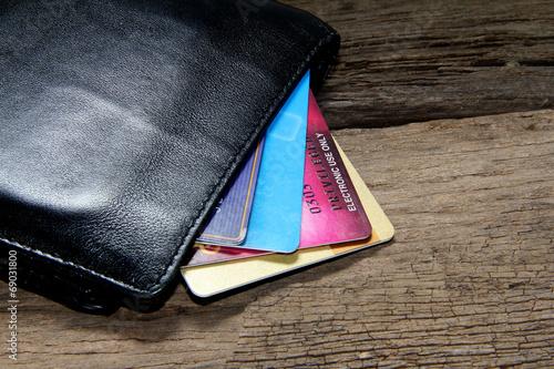 Fotografía  Tarjeta de crédito en la cartera