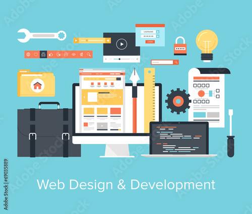 Web Design and Development Wall mural