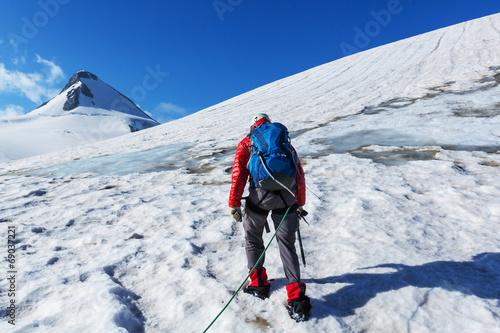 Aluminium Prints Mountaineering Climb