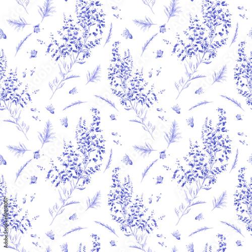 Fototapeta drobne niebieskie kwiaty