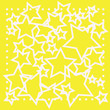 canvas print picture - abstract bokeh white star on yellow background
