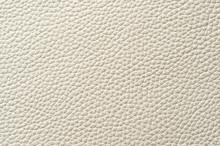Closeup Of Seamless White Leather Texture