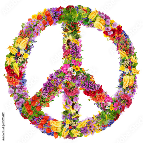 Photo  Peace flower symbol