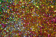Small Multicolored Sequins As Background