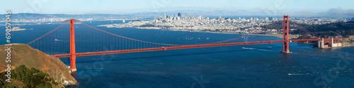 Keuken foto achterwand San Francisco Golden Gate with San Francisco city view